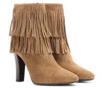 Ankle Boots Lily 95 aus Veloursleder