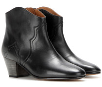 Ankle Boots Dicker aus Leder