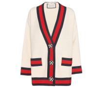 Verzierter Cardigan aus Baumwoll-Tweed