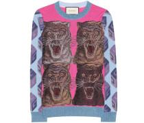 Pullover aus Metallic-Strick