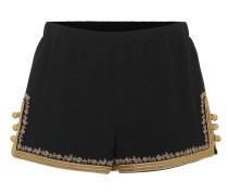 Verzierte Shorts aus Crêpe