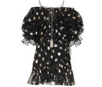 Minikleid aus Seide mit Polka-Dots