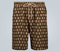 Shorts mit Batik-Print