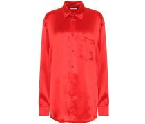 Hemd aus Seidensatin