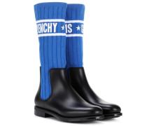 Chelsea Boots mit Sockenakzent