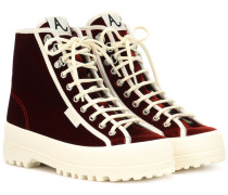 X SUPERGA® High-Top-Sneakers Griffith Park aus Samt