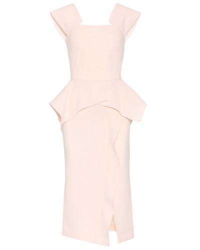 Kleid Sawleigh aus Crêpe mit Schößchen