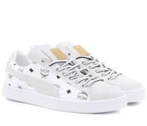 X MCM Sneakers aus Leder