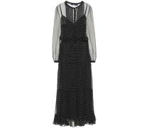 Gepunktetes Kleid aus Seide