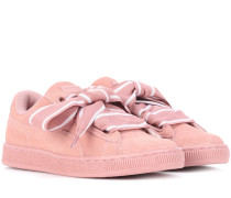 Sneakers Heart aus Veloursleder
