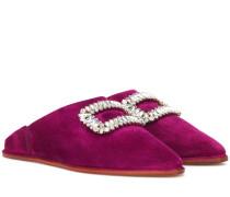 Slippers Bab' Viv' aus Veloursleder