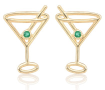 Ohrringe Martini aus 9kt Gold mit Smaragd