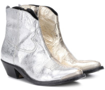 Ankle Boots Young aus Metallic-Leder