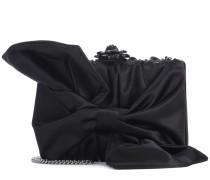 Box Clutch Rogan Bow aus Satin mit Verzierung
