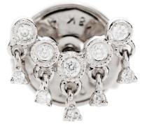 Einzelner Ohrring Talitha Button aus 18kt Weißgold