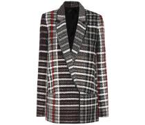 Jacke aus einem Woll-Baumwollgemisch
