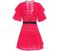 Minikleid mit Spitze aus Baumwolle