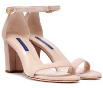 Sandalen Nearlynude aus Veloursleder