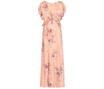 Bedrucktes Kleid Lillian aus Seide