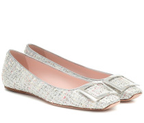 Ballerinas Belle Vivier aus Tweed