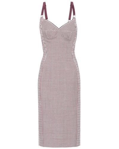 Kariertes Kleid aus Wolle