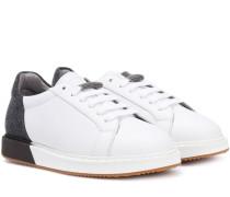 Sneakers aus Leder und Filz