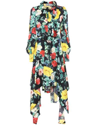 Asymmetrisches Kleid Arabella aus Seide
