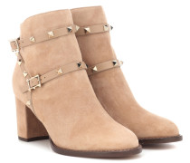 Ankle Boots Rockstud aus Veloursleder