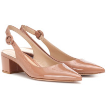 Slingback-Pumps Amee aus Lackleder
