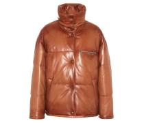 Gesteppte Jacke aus Leder