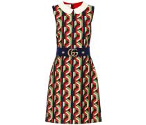 Bedrucktes Kleid mit Wolle