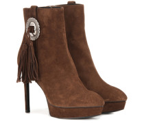 Ankle Boots Classic Janis 105 Concho aus Veloursleder