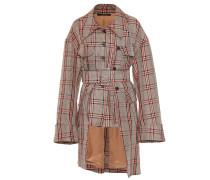 Asymmetrisch Jacke mit Karomuster