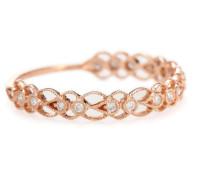 Ring Céleste aus 14kt Roségold mit Diamanten