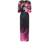 Langes Kleid mit Print und Verzierungen
