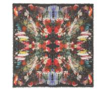 Alexander McQueen Bedruckter Schal mit Leinenanteil