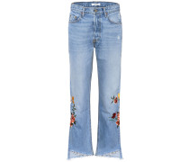 Cropped Jeans Helena mit Stickerei