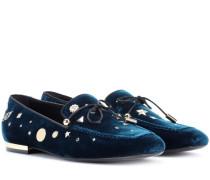 Loafers Astre aus Samt
