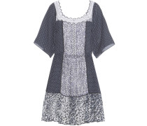Bedrucktes Kleid aus einem Baumwollgemisch