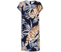 Kleid aus Cady mit Katzenprint