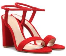 Sandalen Nikki aus Veloursleder