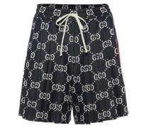 Shorts aus Baumwoll-Jacquard