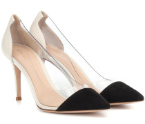 Pumps Plexi 85 aus Veloursleder