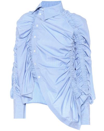 Asymmetrische Bluse aus Baumwolle