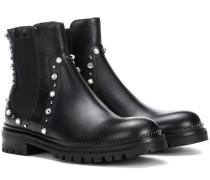Ankle Boots Burrow Flat aus Leder