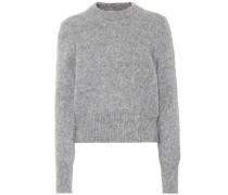 Pullover mit Aplaka- und Wollanteil