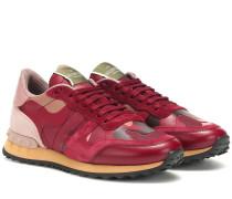 Sneakers Camouflage aus Veloursleder