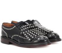 Verzierte Loafers aus Lackleder