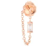 Ohrring Baguette Diamond 1 Chain Wrap aus 18kt Roségold mit