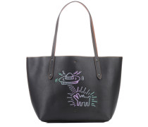 X Keith Haring Shopper aus Leder